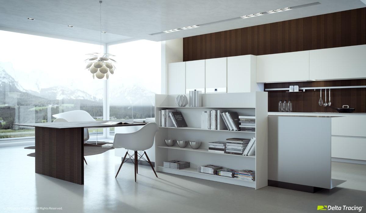 Dise o de cocinas modernas iluminaci n de interiores for Disenos de cocinas en l