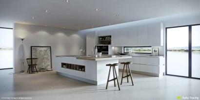Diseño de interiores iluminación de cocina