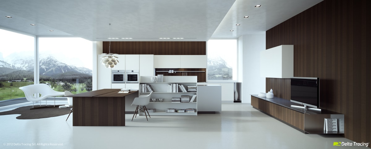 Dise o de cocinas modernas iluminaci n de interiores for Cocina comedor modernos fotos