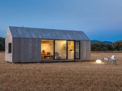Diseño de pequeña casa de cemento transportable