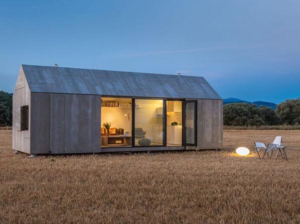 Peque a casa prefabricada de hormig n econ mica y funcional for Casas prefabricadas pequenas