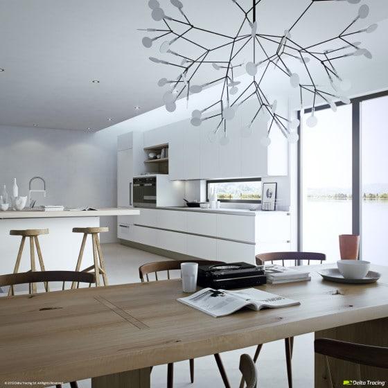 Diseño exclusivo de lámpara de cocina