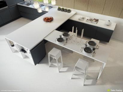 Distribución de muebles de cocina