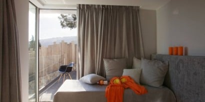 Dormitorio de casa de playa