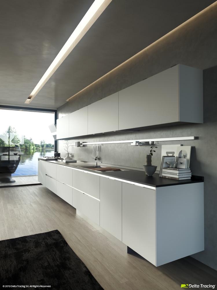 Dise o de cocinas modernas iluminaci n de interiores - Iluminacion falso techo ...
