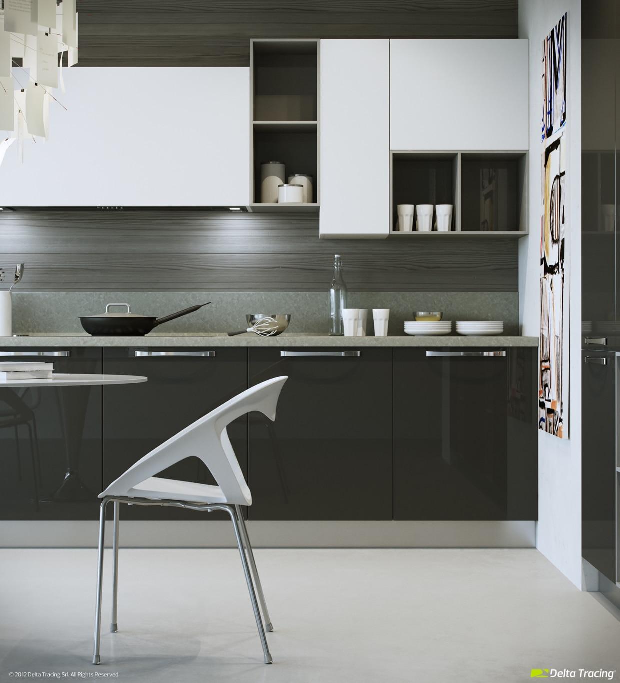 Dise o de cocinas modernas iluminaci n de interiores for Cocinas reposteros modernos
