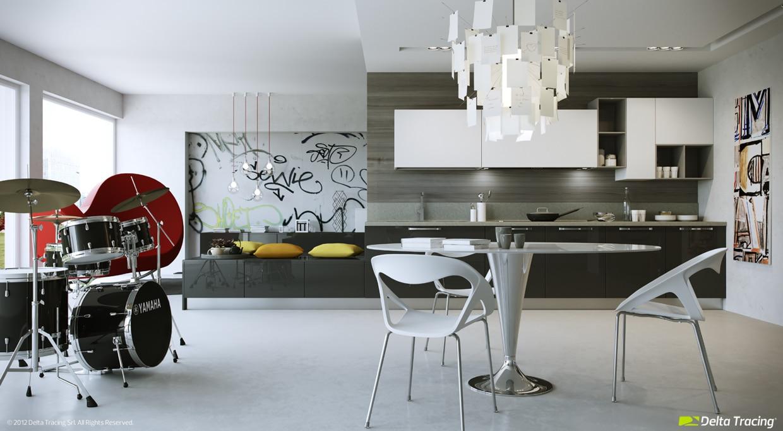 Dise o de cocinas modernas iluminaci n de interiores for Diseno de interiores de cocinas pequenas modernas