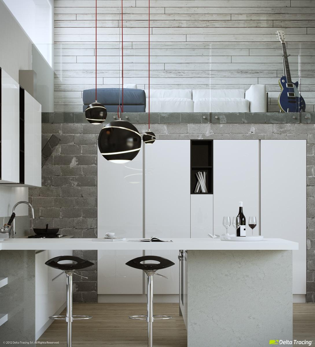 Dise o de cocinas modernas iluminaci n de interiores for Disenos de muebles de cocina colgantes