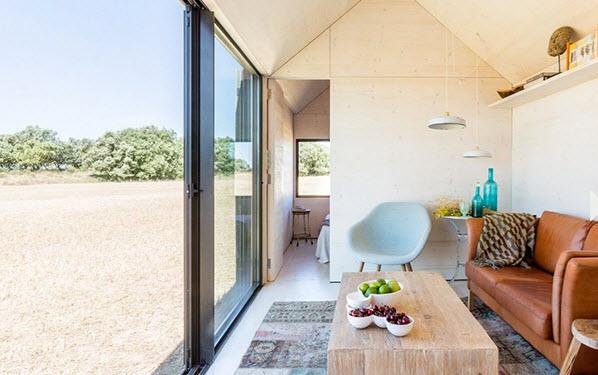 Peque a casa prefabricada de hormig n econ mica y for Tiny house schweiz