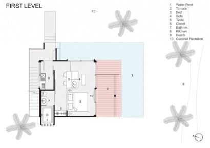 Plano de casa económica de hormigón (primer piso)