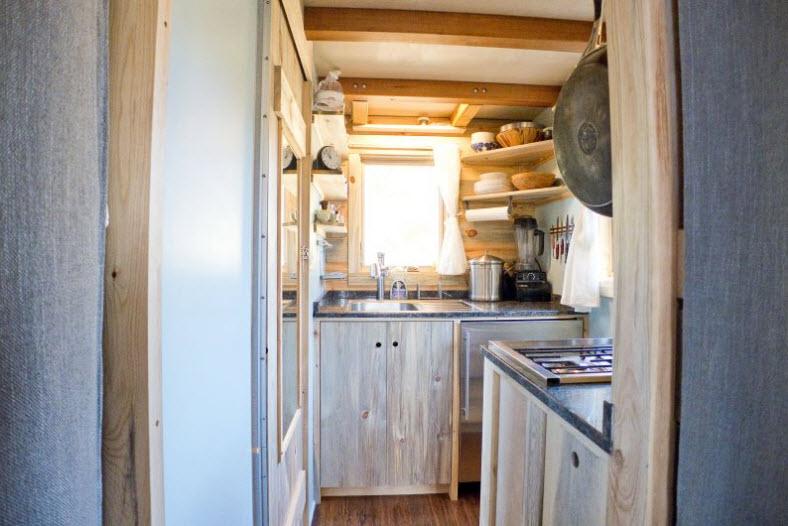 Diseño de pequeña casa rodante de madera y diseño de interiores ...
