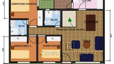 Photo of Plano de casa de 10m x 10m con proyección a segundo nivel