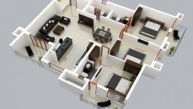 Photo of Plano 3D de casa de un solo nivel