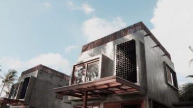 Photo of Casa pequeña y económica de hormigón de dos pisos