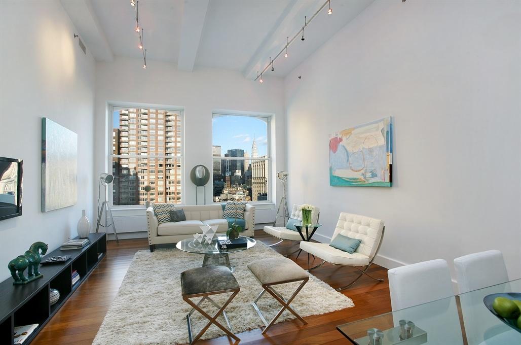 Dise o de apartamentos en edificios dentro de la ciudad for Decoracion de salas de departamentos