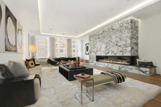 Diseño de apartamento de lujo con techo iluminado