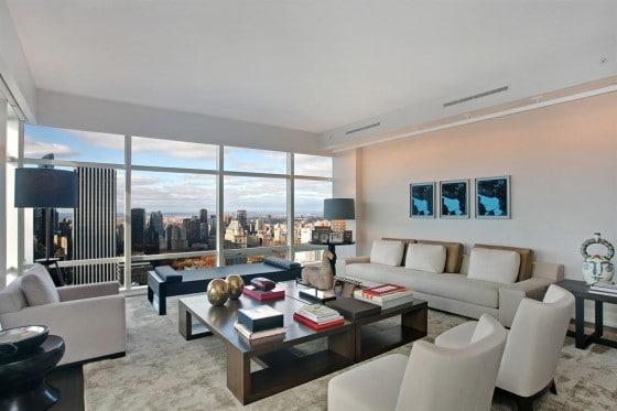 Diseño de apartamento en edificio con vista a la ciudad