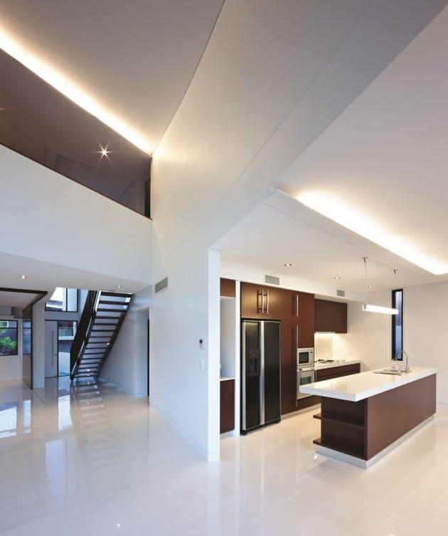 Dise o de moderna casa de dos pisos de hormig n incluye - Casas modernas interior ...