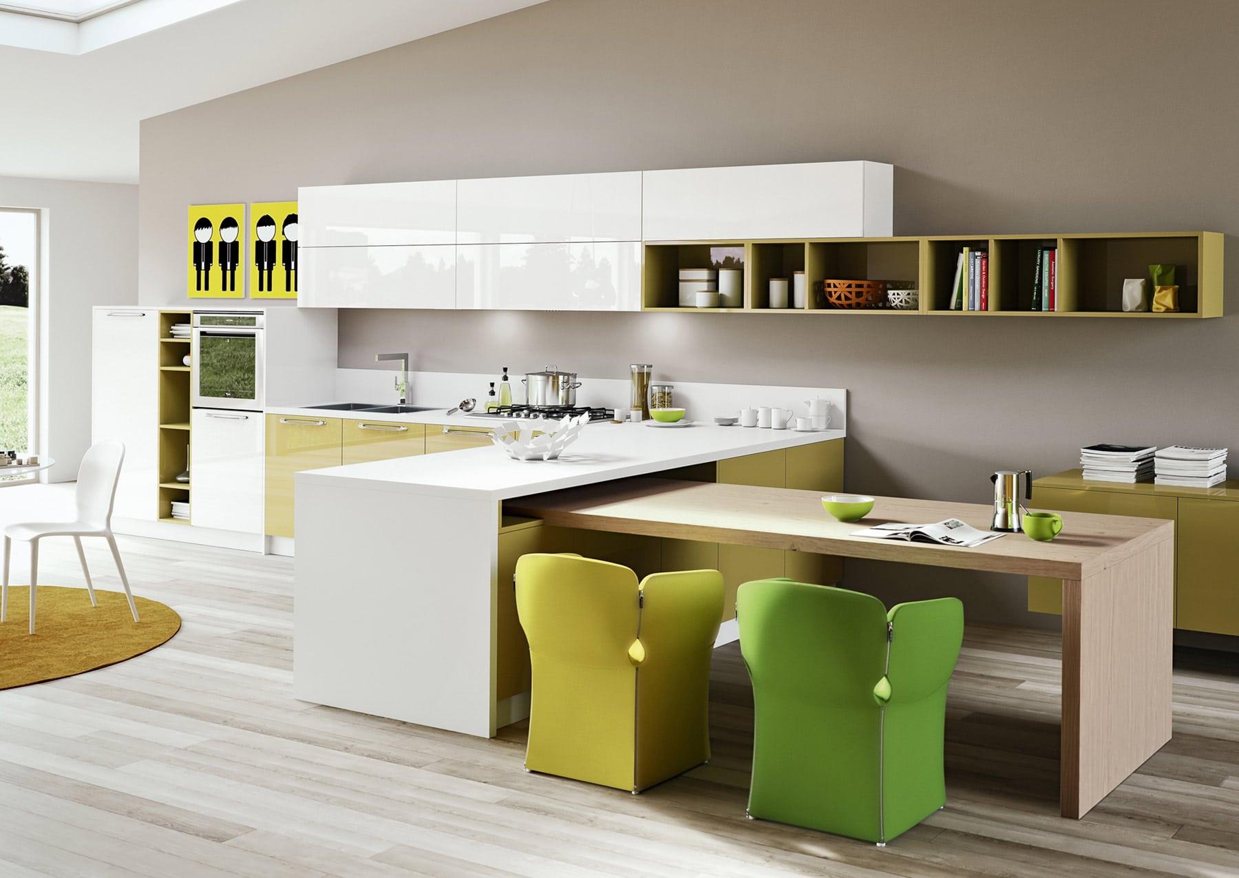 Diseño de cocinas modernas al estilo arte pop   Construye Hogar