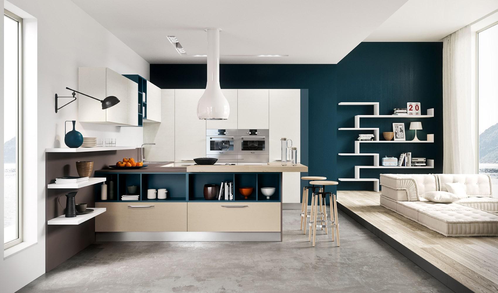 Dise o de cocinas modernas al estilo arte pop construye for Disenadores de cocinas pequenas