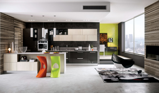 Diseño de cocina moderna estilo arte pop