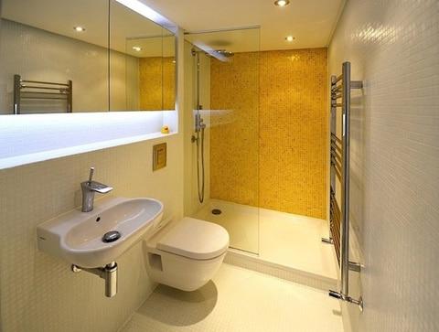 Diseño de cuarto de baño para mini apartamento
