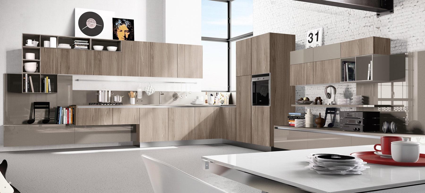 Dise o de cocinas modernas al estilo arte pop construye for Cocinas de madera modernas 2016