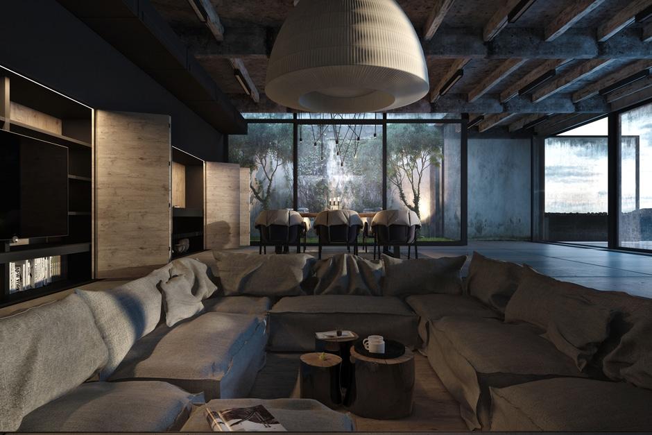 Dise 241 O Industrial De Una Casa Decoraci 243 N De Interiores
