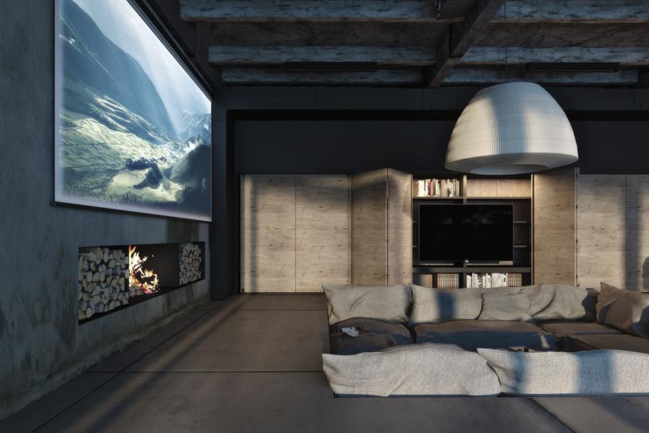 Dise o industrial de una casa decoraci n de interiores - Decoracion en cristal interiores ...