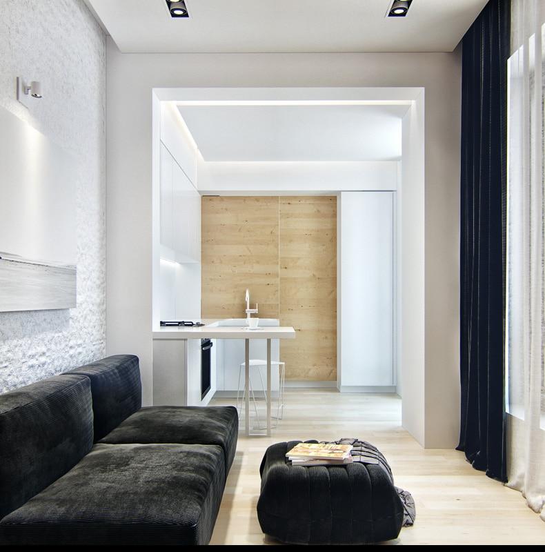 Diseño De Pequeño Apartamento, Planos Y Decoración Interior