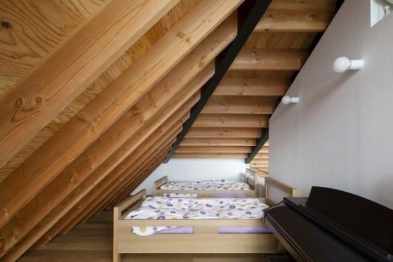 Dormitorios en el mezzanine de la casa