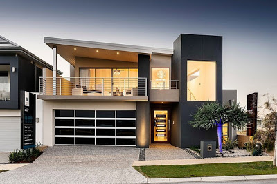 Fachada Y Diseño Interior De Casa Moderna De Dos Pisos