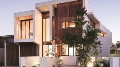 Photo of Diseño de moderna casa de dos pisos de hormigón, incluye interior