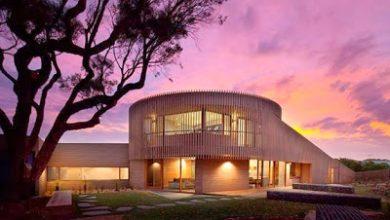 Photo of Diseño de moderna casa de madera circular de dos pisos [fotos]