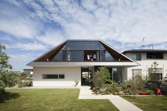 Diseño de fachada de casa moderna de un piso o nivel