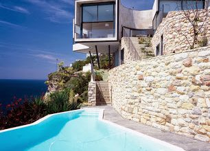 Photo of Diseño de casa en el acantilado, fachada y emplazamiento [Fotos]