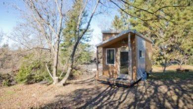 Photo of Diseño de pequeña casa rodante de madera y diseño de interiores