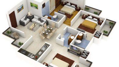 Photo of Plano 3D de casa o departamento cuadrado