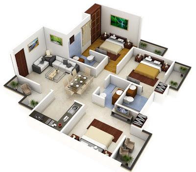 Planos construye hogar - Distribucion casa alargada ...