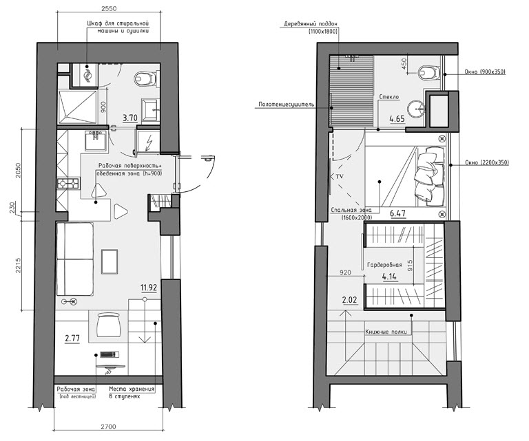 Dise o de peque o apartamento planos y decoraci n interior for Distribucion apartamentos pequenos