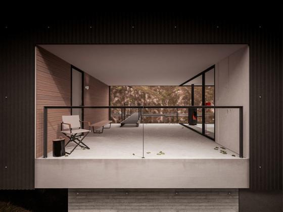 Vista de la terraza con visuales a ambos lados