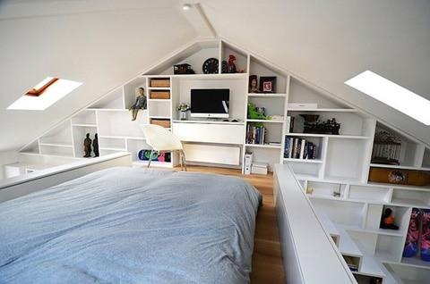 Foto del  dormitorio del mini apartamento