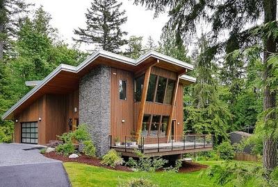 Sencilla casa de dos pisos con planos y dise o de for Casa moderna 64