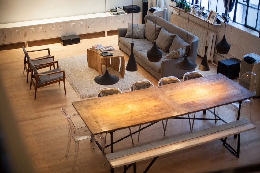Decoraci n de interiores de apartamento para j venes for Diseno estilo industrial