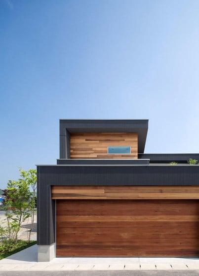 Detalles de acabados de construcción casa moderna