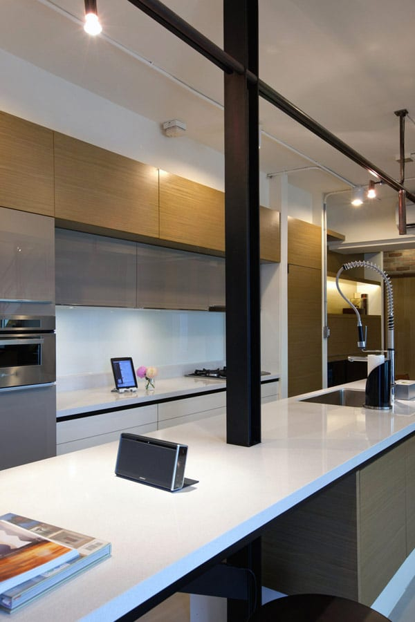 Dise o de apartamento en un almac n loft moderno - Detalles para la cocina ...