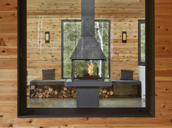 Diseño de chimenea en metal