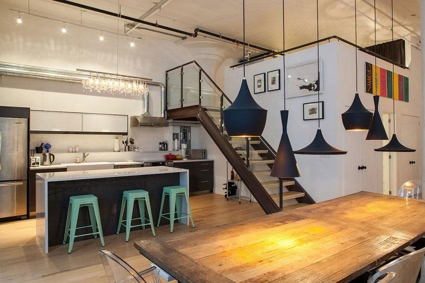 Decoraci n de interiores de apartamento para j venes for Tipos de cocina arquitectura