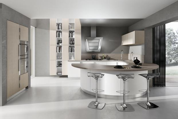 Dise o de cocinas elegantes combina l neas simples en for Modelos de sala cocina