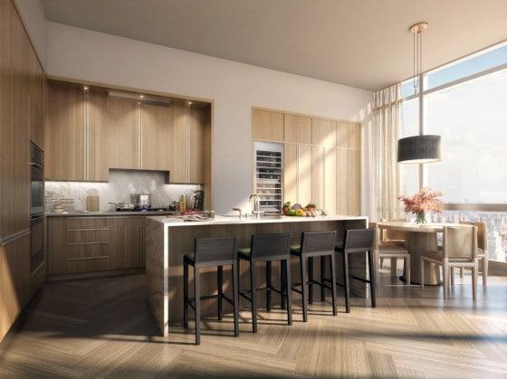 Diseño de cocina de apartamento de lujo